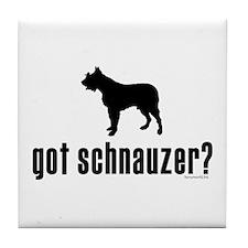 got schnauzer? Tile Coaster