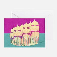 Barcelona Gaudi Paradise Greeting Card