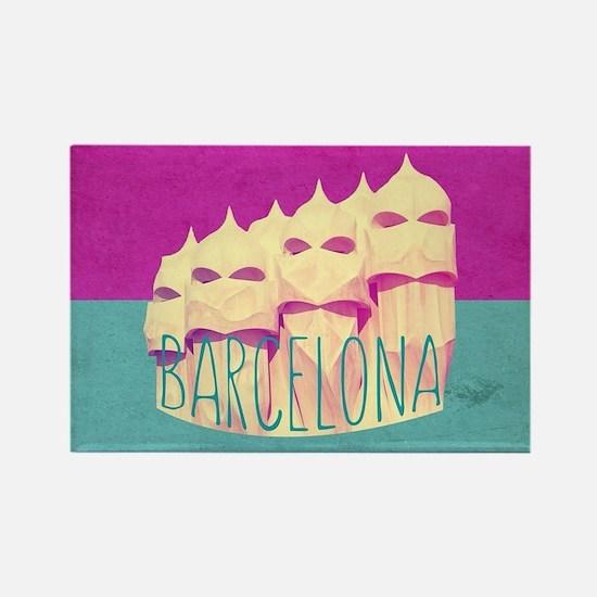Barcelona Gaudi Paradise Rectangle Magnet