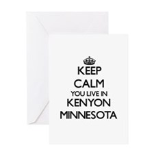Keep calm you live in Kenyon Minnes Greeting Cards