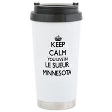 Keep calm you live in L Travel Coffee Mug