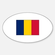 Chad Flag Oval Decal