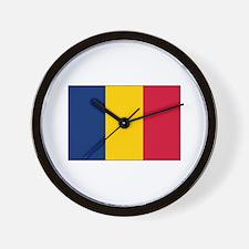 Chad Flag Wall Clock