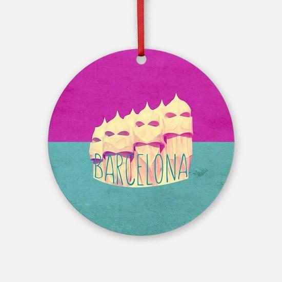 Barcelona Gaudi Paradise Ornament (Round)