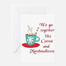 COCOA AND MARSHMELLOWS Greeting Cards