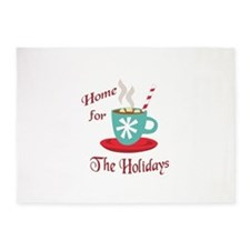 HOME FOR THE HOLIDAYS 5'x7'Area Rug