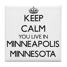 Keep calm you live in Minneapolis Min Tile Coaster