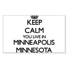 Keep calm you live in Minneapolis Minnesot Decal