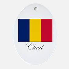 Chad - Flag Oval Ornament