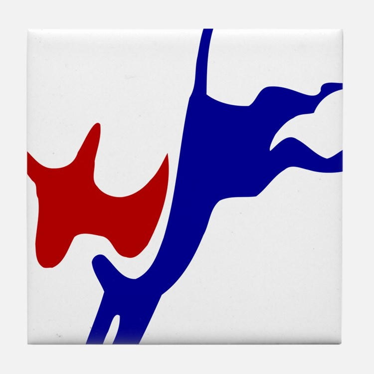 Bucking Democrat Donkey Tile Coaster