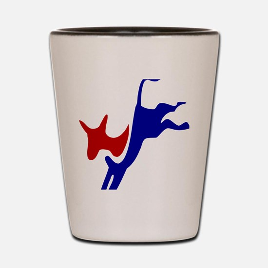 Bucking Democrat Donkey Shot Glass
