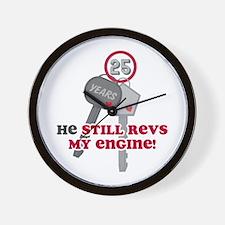 He Revs My Engine 25 Wall Clock