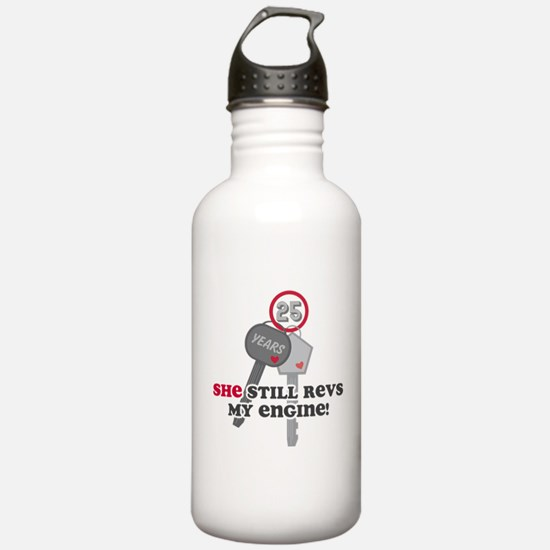 She Revs My Engine 25 Water Bottle