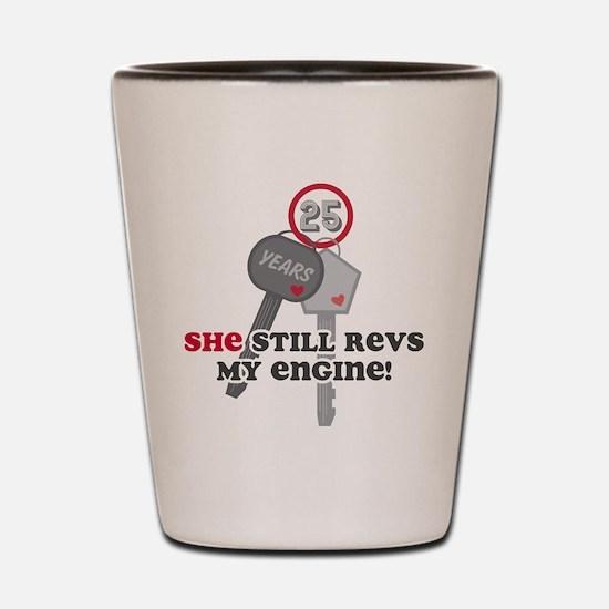 She Revs My Engine 25 Shot Glass