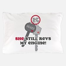 She Revs My Engine 25 Pillow Case