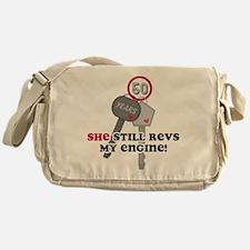 She Revs My Engine 50 Messenger Bag