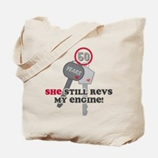 She Revs My Engine 50 Tote Bag