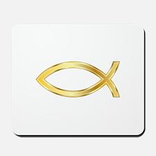 LARGE CHRISTIAN FISH Mousepad