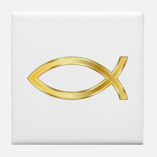 LARGE CHRISTIAN FISH Tile Coaster