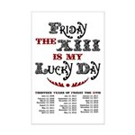 Friday the 13th Mini Poster Print