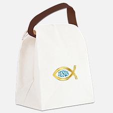 CHRISTIAN FISH JESUS Canvas Lunch Bag