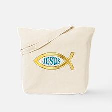 CHRISTIAN FISH JESUS Tote Bag
