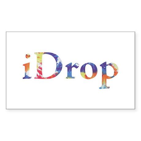 iDrop Rectangle Sticker