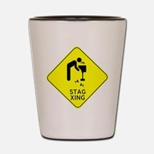 Beware Stag Crossing Shot Glass