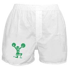 Green Cheerleader Boxer Shorts