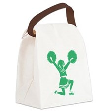 Green Cheerleader Canvas Lunch Bag