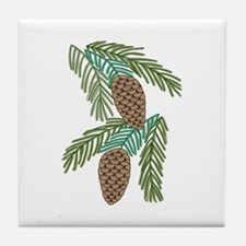 PINE CONES Tile Coaster
