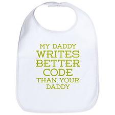 Daddy Codes Better Bib