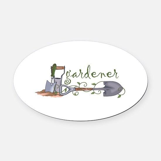 Gardener Oval Car Magnet