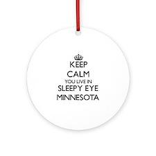 Keep calm you live in Sleepy Eye Ornament (Round)