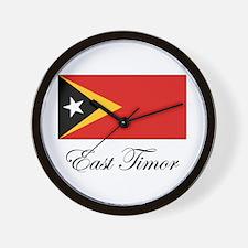 East Timor - Flag Wall Clock