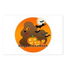 Poodle Halloween Postcards (Package of 8)