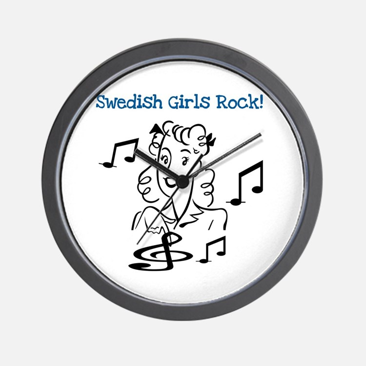 Swedish Girls Rock Wall Clock