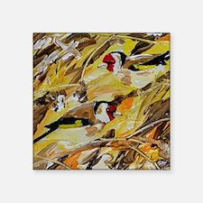 "Goldfinch 2 Square Sticker 3"" x 3"""