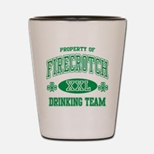 Firecrotch Irish Drinking Team Shot Glass