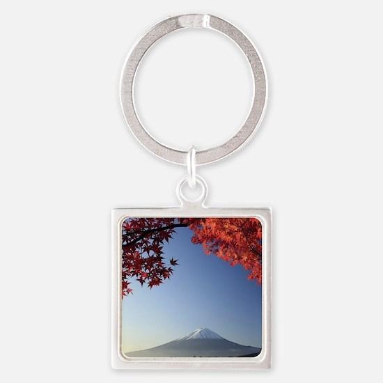 Mt Fuji  Square Keychain