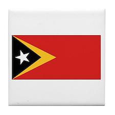 East Timor Flag Tile Coaster