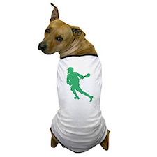 Green Lacrosse Player Dog T-Shirt