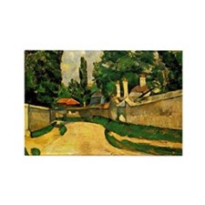 Cezanne - House along a Road Rectangle Magnet