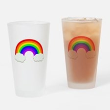 Rainbow in the clouds Drinking Glass