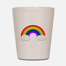 Rainbow in the clouds Shot Glass