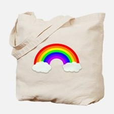 Rainbow in the clouds Tote Bag