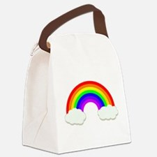 Rainbow in the clouds Canvas Lunch Bag