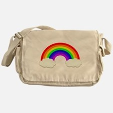 Rainbow in the clouds Messenger Bag