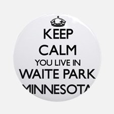 Keep calm you live in Waite Park Ornament (Round)