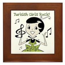 Turkish Girls Rock Framed Tile